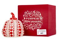 Lot 603-RED PUMPKIN, A PRINT CAST RESIN BY YAYOI KASUMA