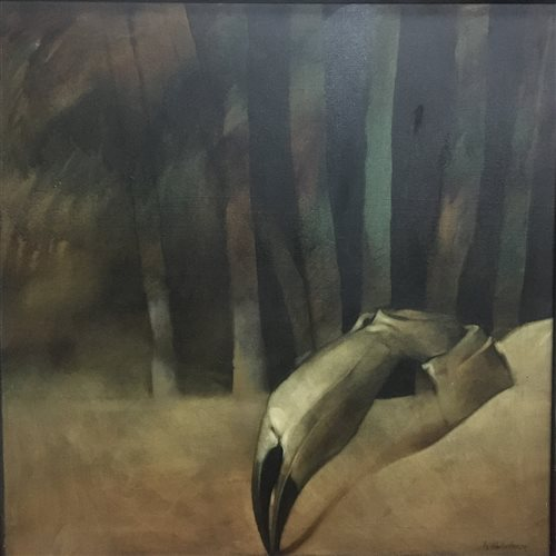 Lot 645 - BURIED CRAB, AN OIL BY NEIL DALLAS BROWN