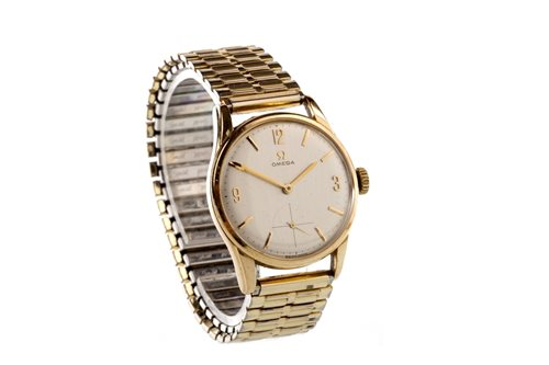Lot 800-A GENTLEMAN'S OMEGA GOLD MANUAL WIND WATCH