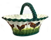 Lot 1236-A WEMYSS WARE OVAL EGG BASKET