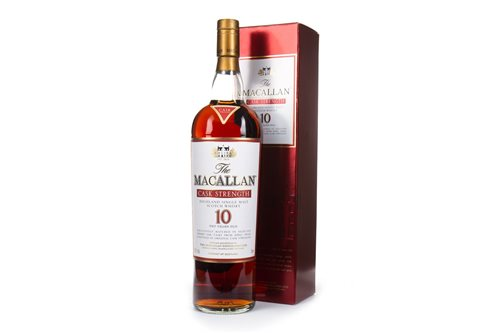 Lot 34-MACALLAN 10 YEARS OLD CASK STRENGTH - ONE LITRE