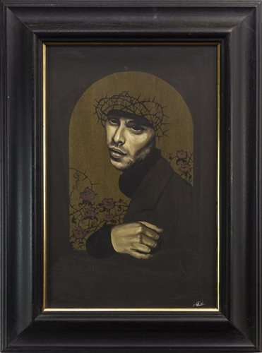 Lot 505-CROWN OF THORNS, AN OIL BY JIM DICK