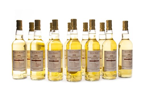 Lot 15-PORT CHARLOTTE 2008 SINGLE CASK AGED 3 YEARS (12)
