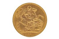 Lot 598 - A GOLD SOVEREIGN, 1908