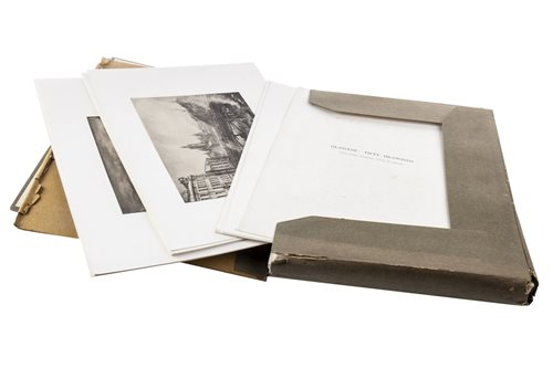 Lot 481-GLASGOW, FIFTY DRAWINGS, A SET OF PHOTOGRAUVES AFTER MUIRHEAD BONE