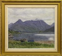 Lot 651 - SCOTTISH LOCH SCENE, AN OIL BY DUNCAN MACGREGOR WHYTE