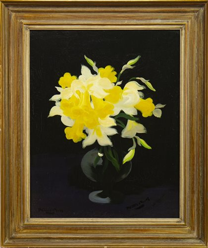 Lot 483-DAFFODILS, AN OIL BY JAMES STUART PARK