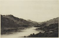 Lot 682 - LOCH LONG, AN ETCHING BY JOHNSTONE BAIRD