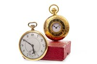 Lot 812-TWO GOLD PLATED POCKET WATCHES