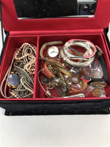 Lot 10-A GROUP OF SILVER AND COSTUME JEWELLERY