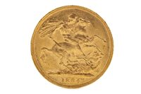 Lot 599 - A GOLD SOVEREIGN, 1884