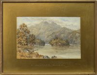 Image for BEN VENUE AND ELLEN'S ISLE, LOCH KATRINE, A WATERCOLOUR BY HORATIO MACCULLOCH
