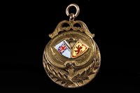 Lot 1937-SCOTTISH JUNIOR LEAGUE CUP WINNERS GOLD MEDAL 1939