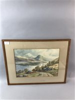 Lot 27-A. DEAN, SCOTTISH LANDSCAPE, AND ANOTHER WATERCOLOUR