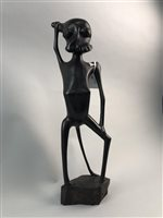 Lot 44-A STAINED HARDWOOD AFRICAN FIGURAL SCULPTURE