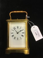 Lot 1430 - A FRENCH CARRIAGE CLOCK BY HENRI JACOT
