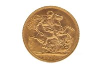 Lot 600 - A GOLD SOVEREIGN, 1910