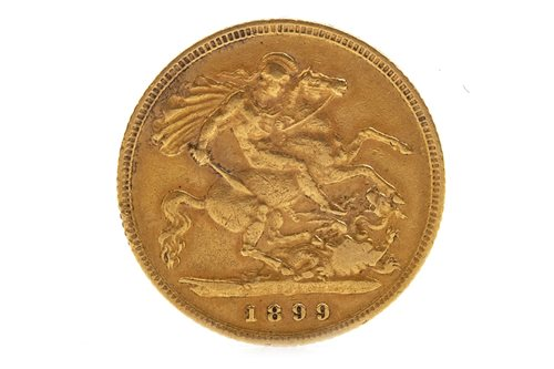 Lot 601-A GOLD HALF SOVEREIGN, 1899