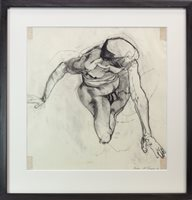 Lot 590 - LIFE DRAWING OF NUDE FEMALE, AN EARLY WORK BY ALLY THOMPSON