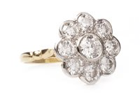 Lot 6-A DIAMOND FLORAL CLUSTER RING
