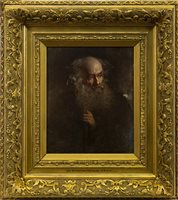 Lot 498-MOSES, AN OIL BY SIR WILLIAM FETTES DOUGLAS