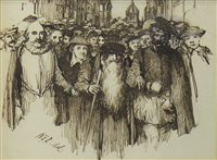 Lot 499-JOHN KNOX, AN INK AND WASH BY SIR WILLIAM FETTES DOUGLAS