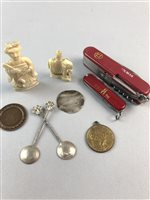 Lot 12-AN EDWARD VI SILVER SHILLING AND OTHER ITEMS