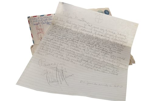 Lot 918-A LETTER FROM CHARLES MANSON