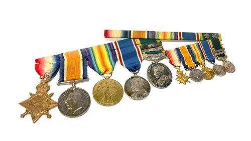 Lot 924-A LOT OF FIVE WWI AND LATER MEDALS AWARDED TO W. P. MACKIE