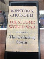 Lot 1601-A FIRST EDITION COPY OF THE SECOND WORLD WAR VOL. I, BY WINSTON CHURCHILL