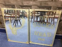Lot 35-A LOT OF TWO PUB MIRROR FOR THE BUCKS HEAD INN