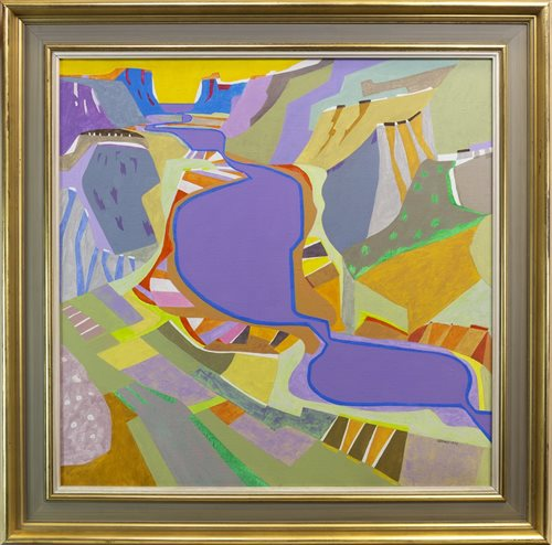Lot 513 - AN ABSTRACT OIL, BY JAMES SPENCE