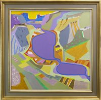 Lot 513-AN ABSTRACT OIL, BY JAMES SPENCE