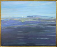 Lot 404-A LARGE OIL, DEPICTING A DISTANT HILL