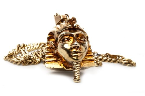 Lot 105-EGYPTIAN HEAD PENDANT ON CHAIN