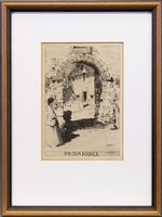 Lot 408-PROVANHALL, A DRYPOINT BY DAVID YOUNG CAMERON
