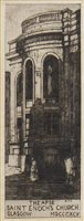 Lot 409-THE APSE, SAINT ENOCH'S CHURCH, AN ETCHING BY SIR DAVID YOUNG CAMERON