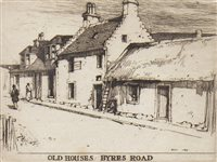 Lot 410-OLD HOUSES, BYRES ROAD, AN ETCHING BY SIR DAVID YOUNG CAMERON