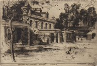 Lot 411-HOLMFAULDEAD HOUSE, GOVAN, AN ETCHING BY SIR DAVID YOUNG CAMERON