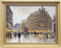 Lot 414-LEICESTER SQUARE, AN OIL BY ROLAND DAVIES