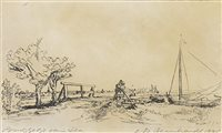 Lot 419-SIX'S BRIDGE, A RESTRIKE ETCHING BY REMBRANDT VAN RIJN