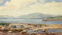 Lot 424-THE MOUNTAINS OF MULL,  A WATERCOLOUR BY PETER MACGREGOR WILSON