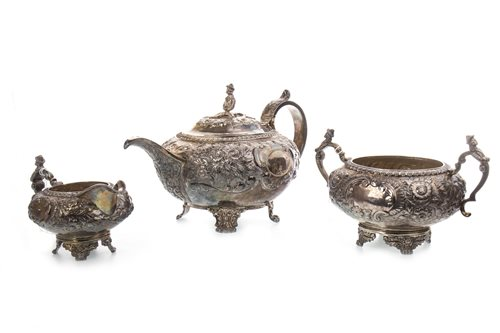 Lot 868-A GEORGIAN SILVER TEA SERVICE