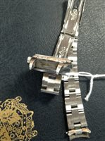 Lot 829-A LADY'S ROLEX OYSTER PERPETUAL STEEL WATCH