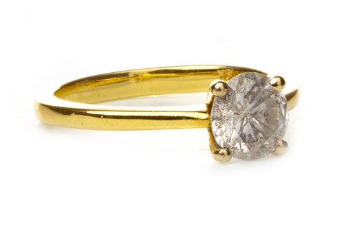 Lot 95-A DIAMOND SOLITAIRE RING