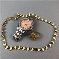 Lot 47-A CONTEMPORARY 'SEKSY' WRISTWATCH AND OTHER JEWELLERY