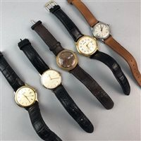 Lot 36-A GENT'S ROTARY WRISTWATCH AND FOUR OTHERS
