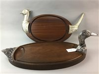 Lot 49-A LOT OF TWO SERVING PLATTERS