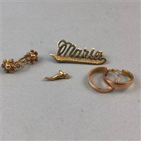 Lot 35-A 'MARIA' NAME BROOCH AND OTHER JEWELLERY