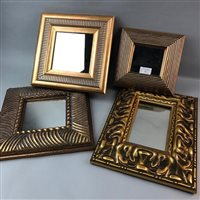 Lot 32-A GROUP OF FOUR GILT FRAMED WALL MIRRORS